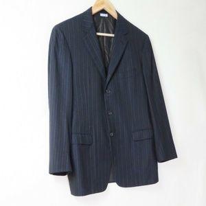 Brioni Millennio super 170s navy pinstripe blazer